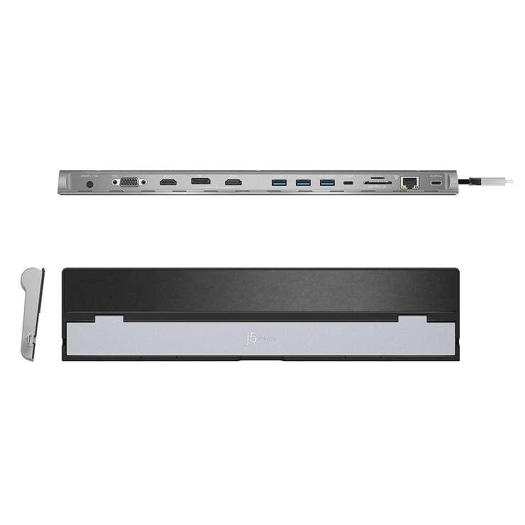 STATION D''ACCUEIL MULTIPORTS USB TYPE C VERS DISPLAYPORT/HDMI/VGA jcd543-1-42400x