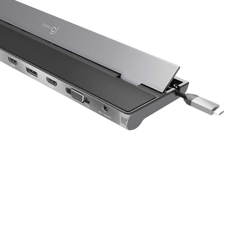 STATION D''ACCUEIL MULTIPORTS USB TYPE C VERS DISPLAYPORT/HDMI/VGA jcd543-1-62400x