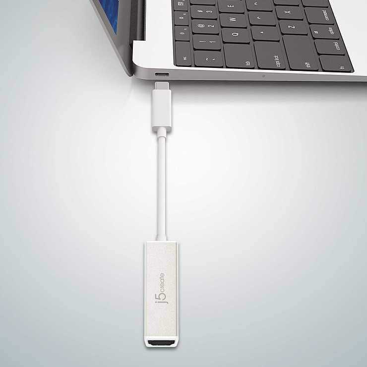 ADAPTATEUR USB TYPE C VERS HDMI 4K 14.5CM jca153-7-32400x