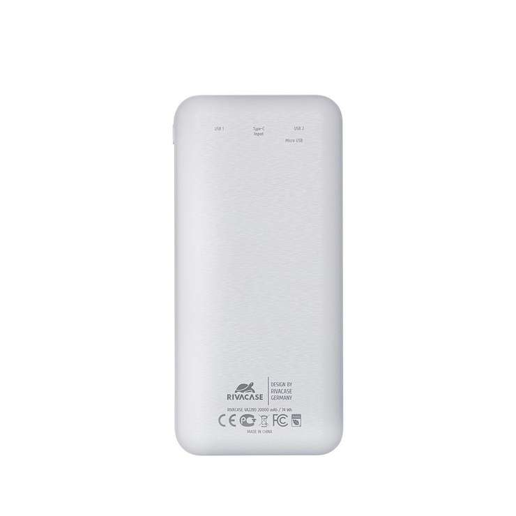 POWERBANK 20000 MAH 2.1A USB + TYPE C AVEC ECRAN va2280white.42604035794424260403579435.ver03
