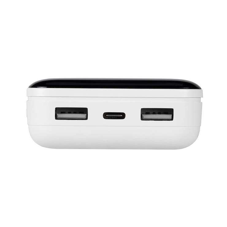 POWERBANK 20000 MAH 2.1A USB + TYPE C AVEC ECRAN va2280white.42604035794424260403579435.ver04