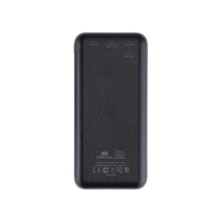 POWERBANK 20000 MAH 2.1A USB/TYPE C/MICRO USB QC ECRAN 2580black.42604035792824260403579275.ver03