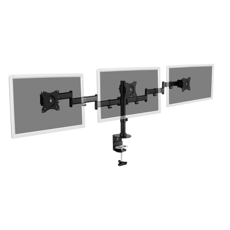 SUPPORT UNIVERSEL 3 ÉCRANS FIXATION A PINCE MAX 24 KG da903621