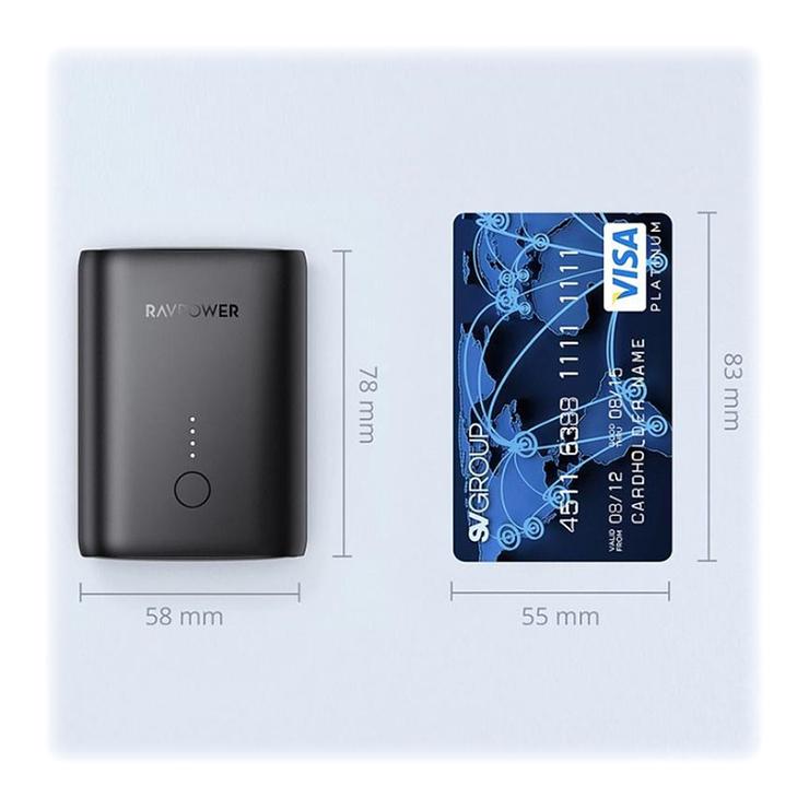 LOT DE 5 POWERBANKS 10000 mAh PD & QC TAILLE COMPACT rppb194-4