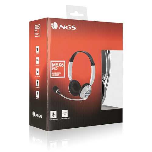 CASQUE + MICRO NGS - CONTROLE VOLUME CASQUE ENVELOPPANT auricularvideojuegosngsmsx6propack022