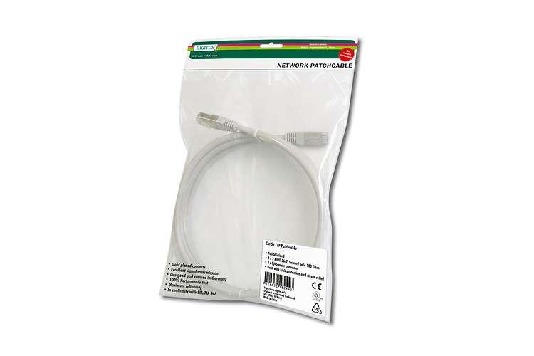 CABLE RJ45 FTP CAT 5E GAINE PVC BLINDE - 3M - GRIS crj453mbpvc