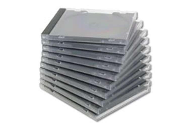 BOITIER PLASTIQUE POUR CD - BOITIER STANDARD - LOT DE 10 0