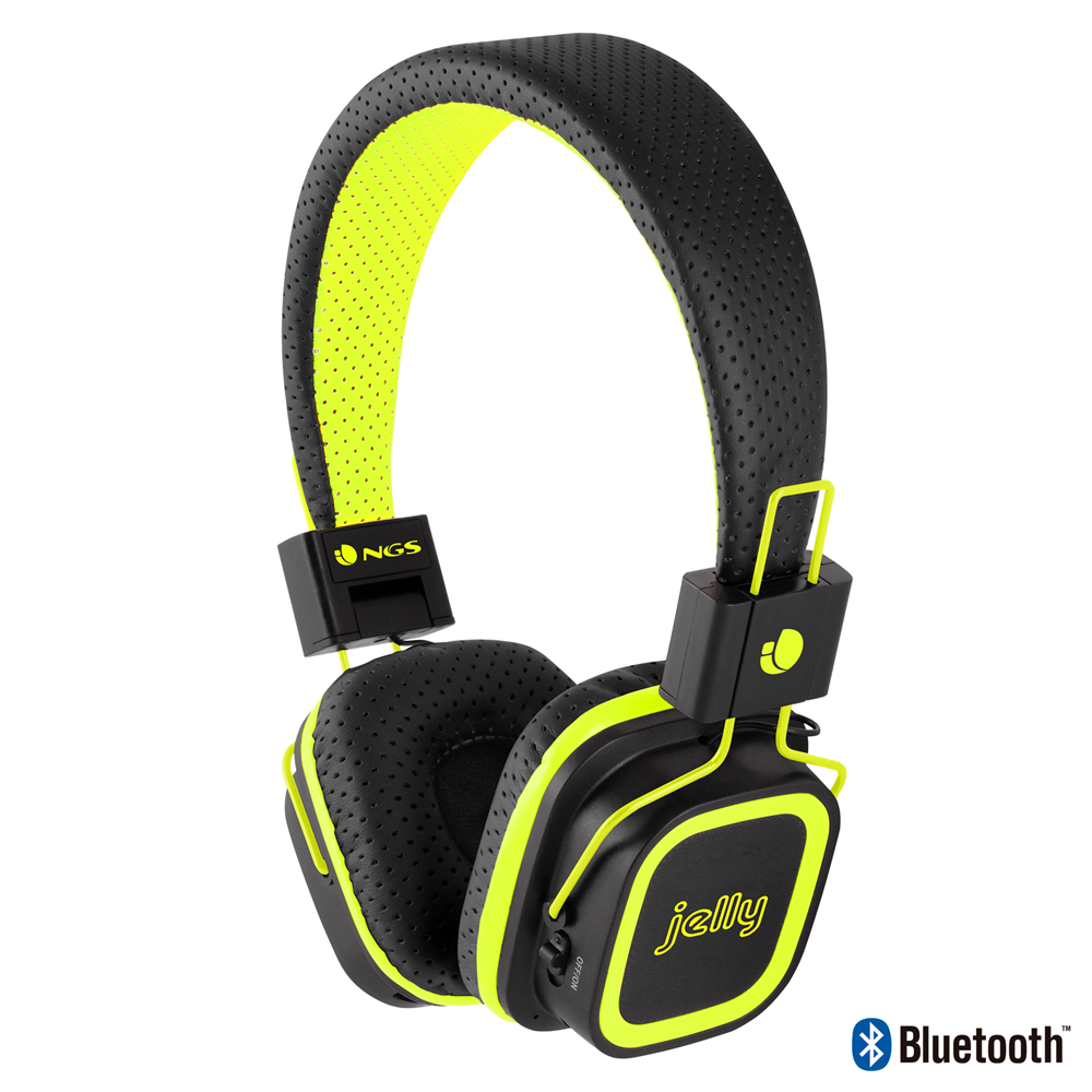 casque audio artica jelly bluetooth jaune fluo noriak. Black Bedroom Furniture Sets. Home Design Ideas